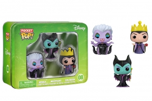 Pocket Pop! Disney 3-Pack Tin: Classic Maleficent, Evil Queen, and Ursula