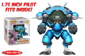 "Overwatch - D.Va & MEKA (Blueberry) 6"" Pop! Vinyl Figure exclusive"