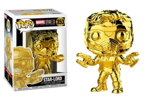 POP! Bobble: Marvel: Marvel Studios 10: (Chrome) Star-Lord exclusive uszkodzone pudełko