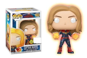 Pop Marvel: Captain Marvel - Captain Marvel glows in the dark exclusive uszkodzone pudełko
